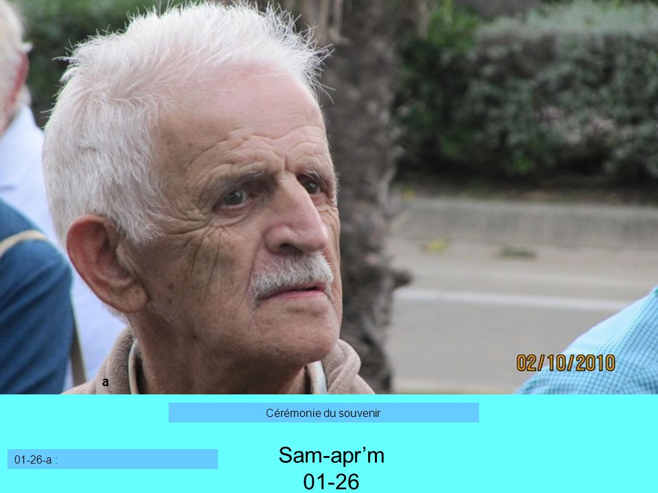 Sam-aprm 01-26 01-26-a : a Cérémonie du souvenir