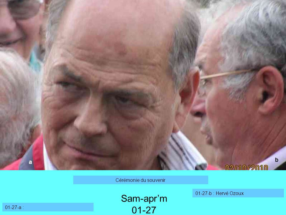01-27-a : 01-27-b : Hervé Ozoux a Sam-aprm 01-27 b Cérémonie du souvenir