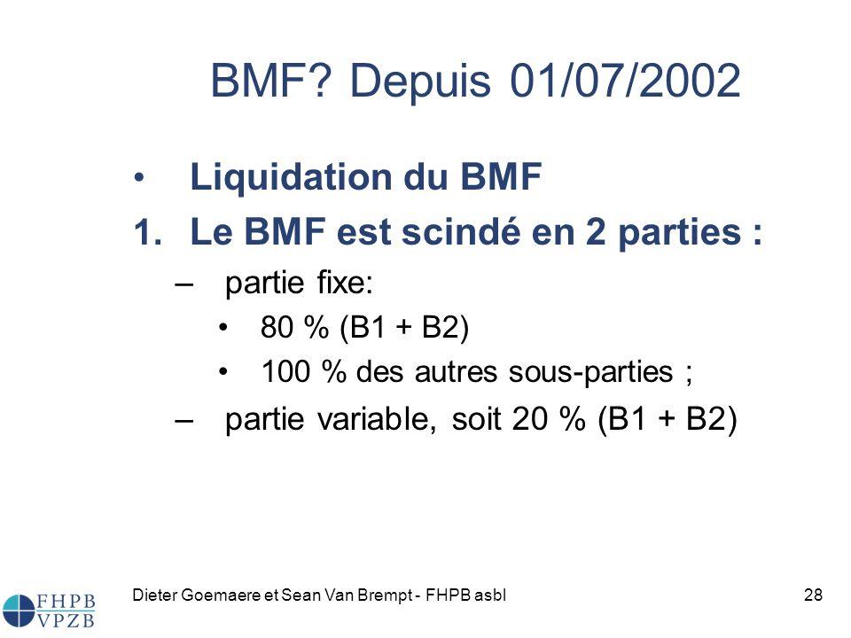 Dieter Goemaere et Sean Van Brempt - FHPB asbl28 Liquidation du BMF 1.
