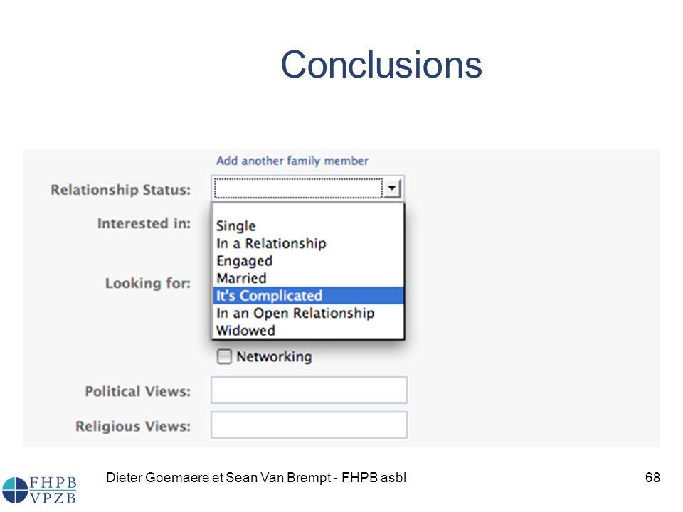 Dieter Goemaere et Sean Van Brempt - FHPB asbl68 Conclusions