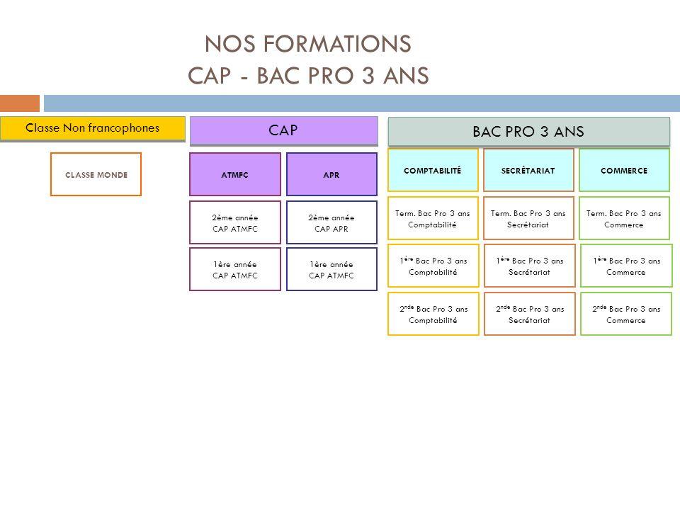 CAP ATMFC Le titulaire du CAP exerce dans les services techniques de structures collectives publiques ou privées (maisons de retraite par exemple), ou chez les particuliers par l intermédiaire d un organisme prestataire.