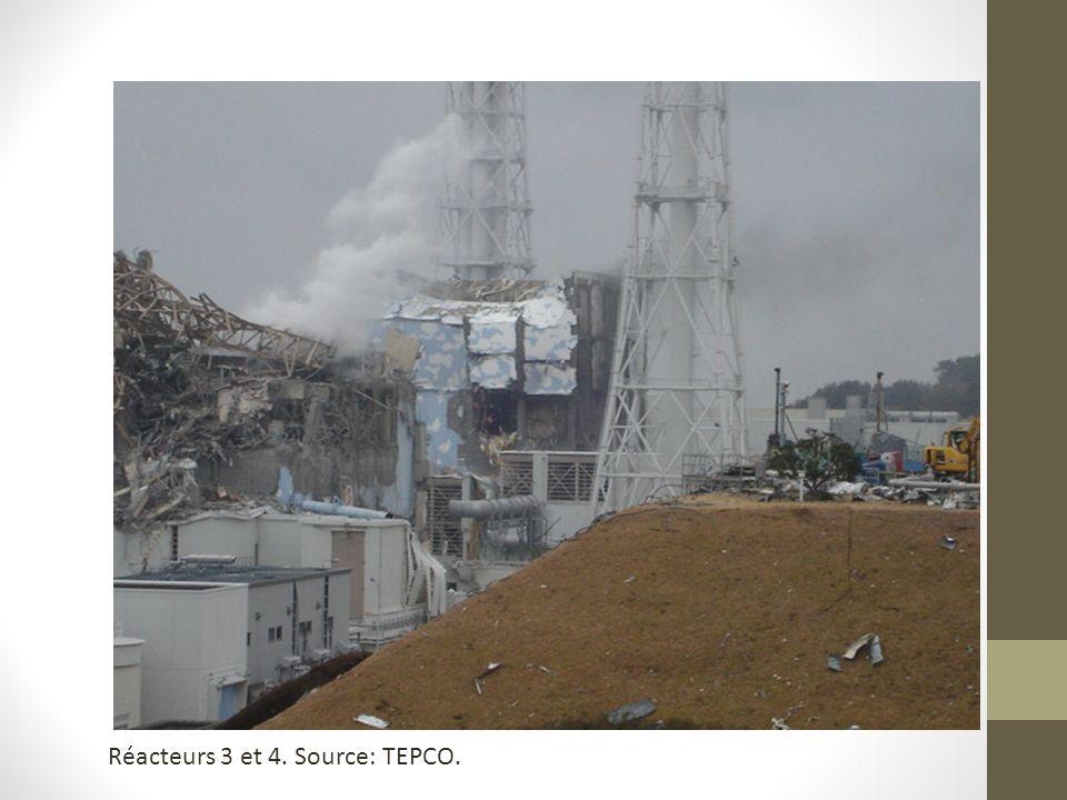 Réacteurs 3 et 4. Source: TEPCO.