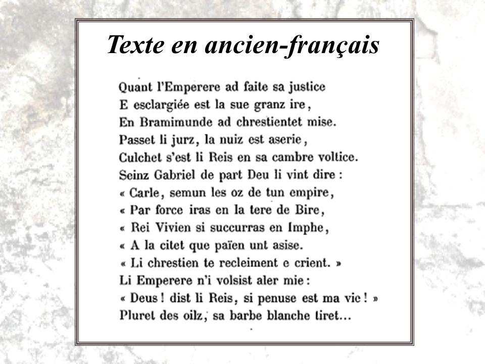 Moyen-français Français moderne Dérivés du latin Mots = sons = abstraits Lancien-français J.-C.
