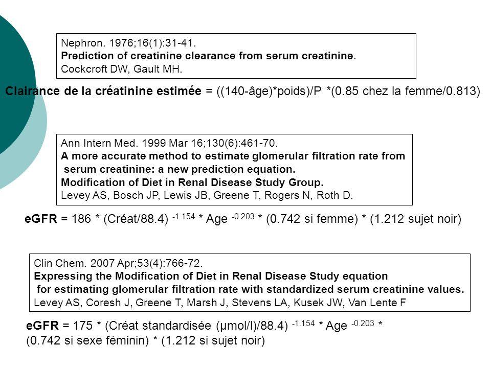 Protéinurie 1- Levey AS et al.