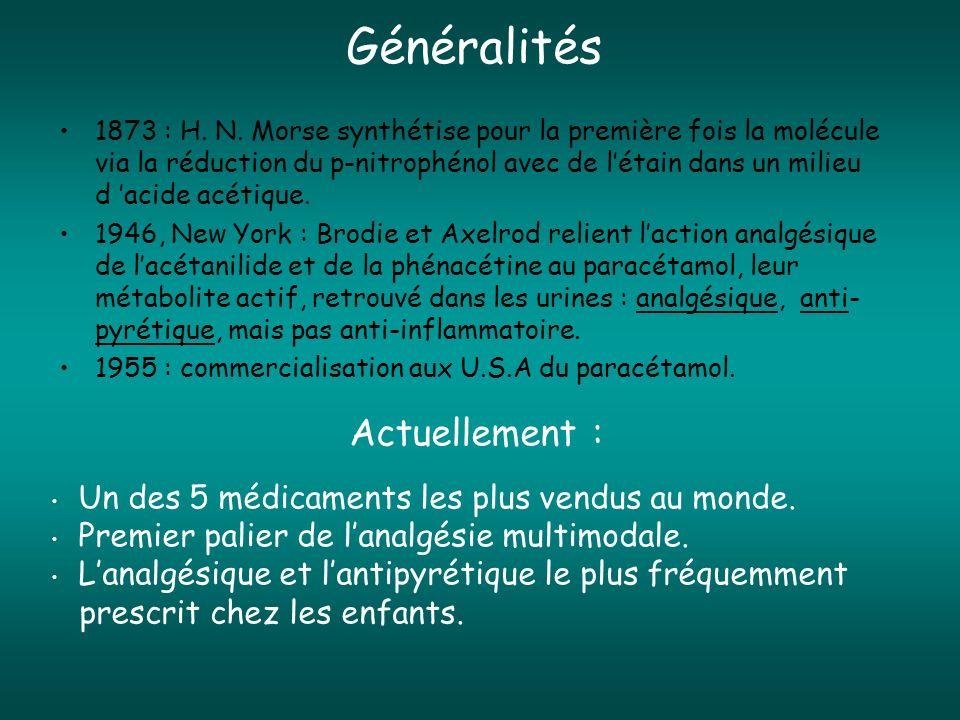 Efficacité Action analgésique comparable : - Propacétamol 2 g IV = morphine 10 mg IM - Propacétamol 2 g IV = ketorolac 30 mg IV - Propacétamol 2 g IV = diclofenac 75 mg IM (2 g Propacétamol = 1 g paracétamol) Van Aken H et al.