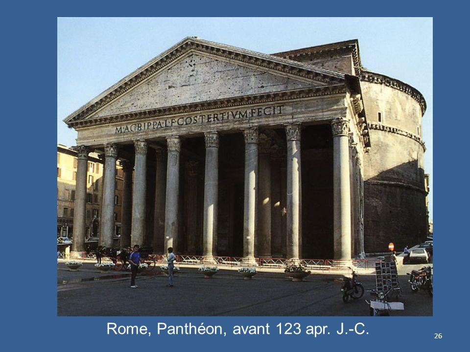 26 Rome, Panthéon, avant 123 apr. J.-C.