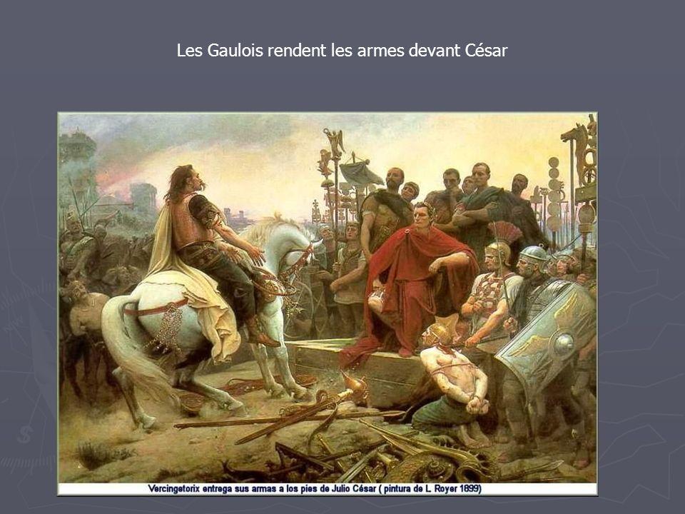 Les Gaulois rendent les armes devant César