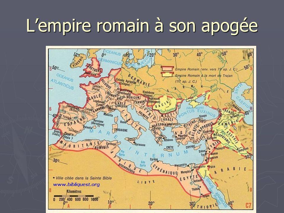 Lempire romain à son apogée