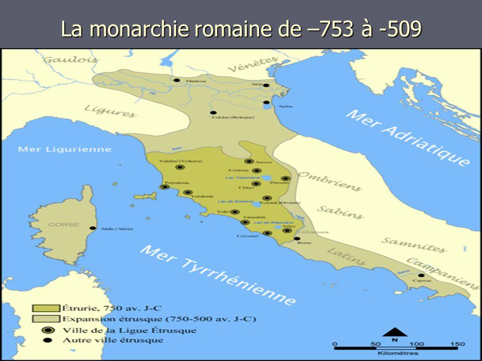 La monarchie romaine de –753 à -509