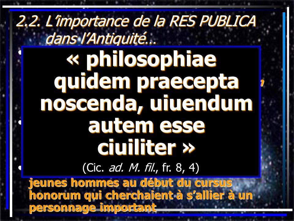 2.2. Limportance de la RES PUBLICA dans lAntiquité… la RELIGION ROMAINE:la RELIGION ROMAINE:ritualiste tout acte politique avait une connotation relig