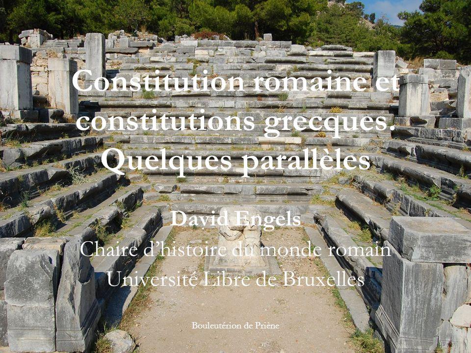 Constitution romaine et constitutions grecques.