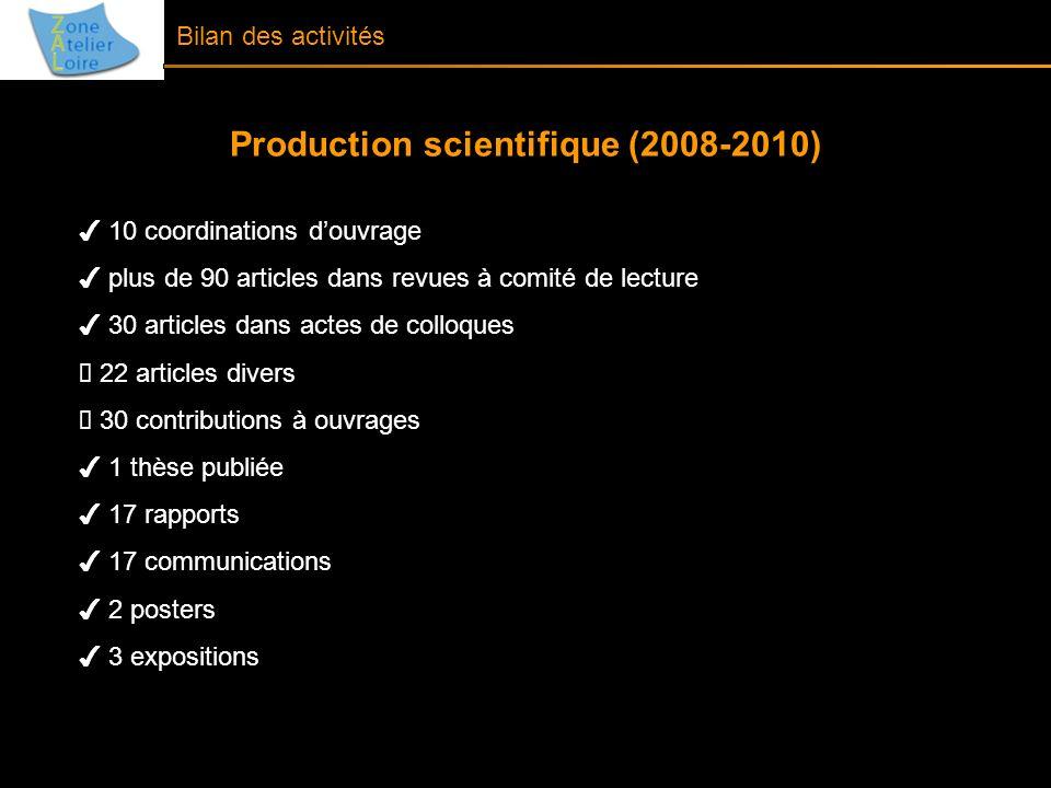 Bilan des activités 10 coordinations douvrage plus de 90 articles dans revues à comité de lecture 30 articles dans actes de colloques 22 articles dive