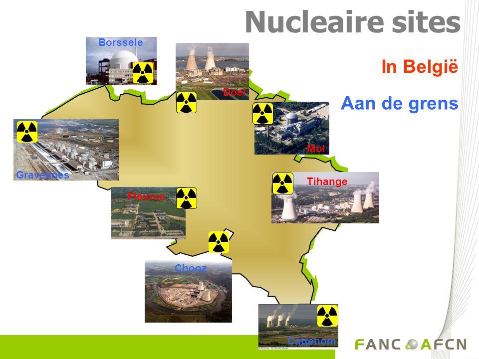 Gravelines Chooz Nucleaire sites In België Aan de grens Tihange Borssele Fleurus Doel Mol Cattenom