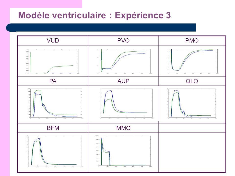 Modèle ventriculaire : Expérience 3 VUDPVOPMO PAAUPQLO BFMMMO