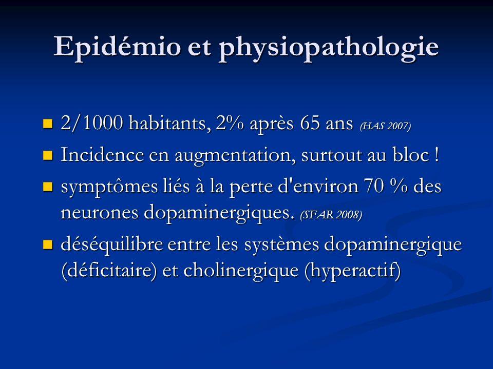 Epidémio et physiopathologie 2/1000 habitants, 2% après 65 ans (HAS 2007) 2/1000 habitants, 2% après 65 ans (HAS 2007) Incidence en augmentation, surt