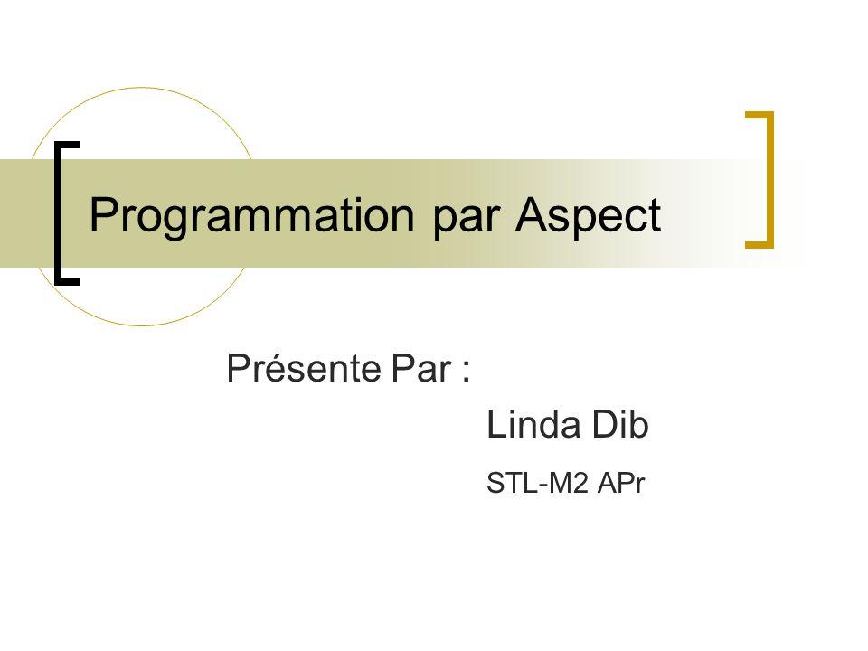 La composition -Elle a lieu après la configuration -Cest lapplication des règles de transformation à laspect de base -Elle produit un nouveau programme où les différents aspects sont fusionnés.