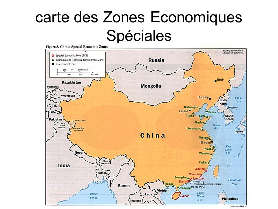 carte des Zones Economiques Spéciales