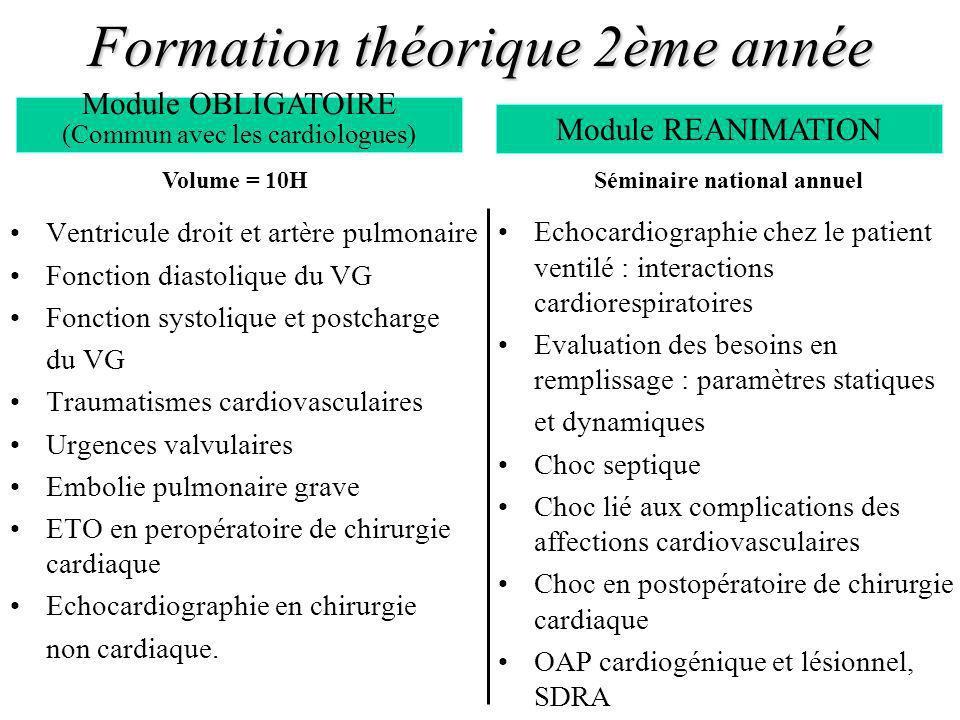 Formation pratique 2ème année Les terrains de stage sont élargis aux services de réanimation médicale et danesthésie-réanimation (réa.