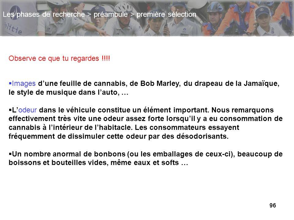 96 Les phases de recherche > préambule > première sélection Images dune feuille de cannabis, de Bob Marley, du drapeau de la Jamaïque, le style de mus