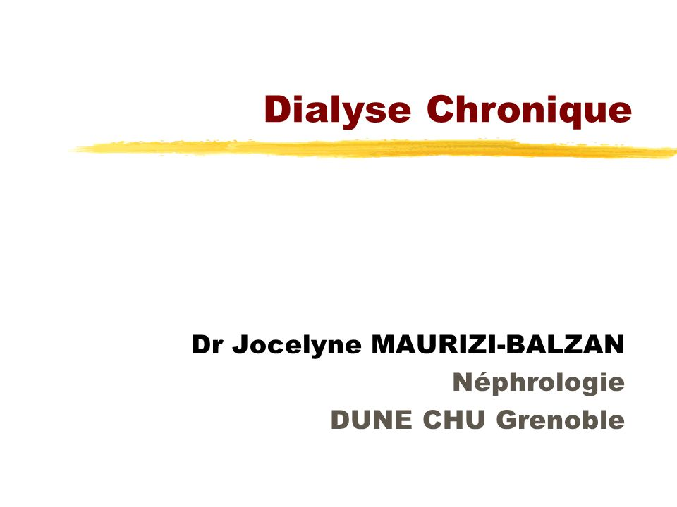 Dialyse : principes zEpuration ypar diffusion ypassive yf (gradient concentration) zFiltration ypar convection yactive y se substituer à la diurèse