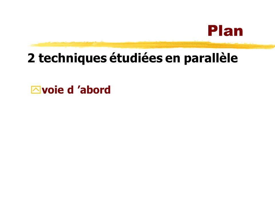 Plan 2 techniques étudiées en parallèle yvoie d abord