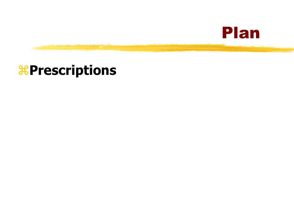 Plan zPrescriptions