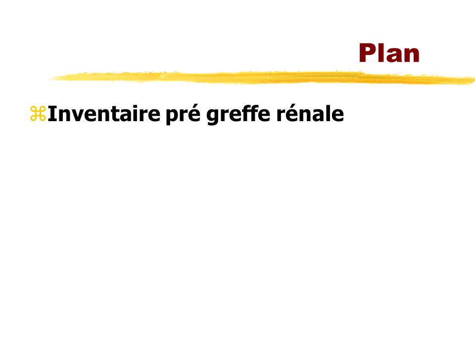 Plan zInventaire pré greffe rénale