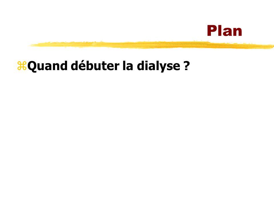 Plan zQuand débuter la dialyse ?