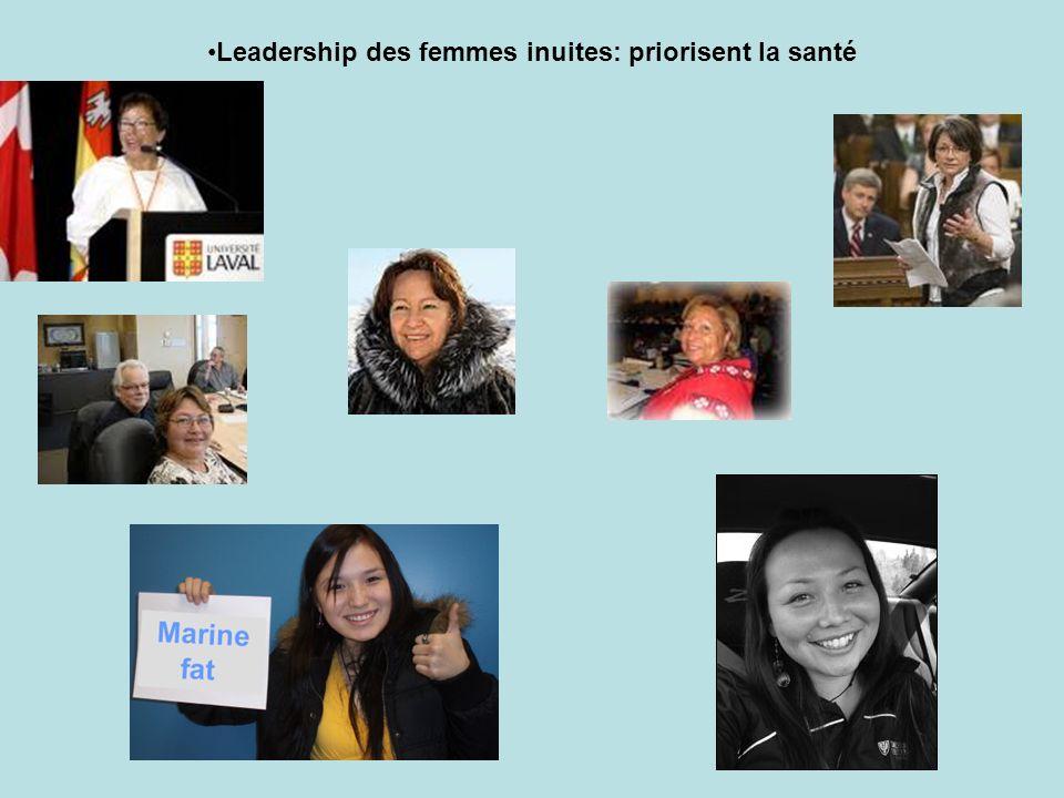 Leadership des femmes inuites: priorisent la santé