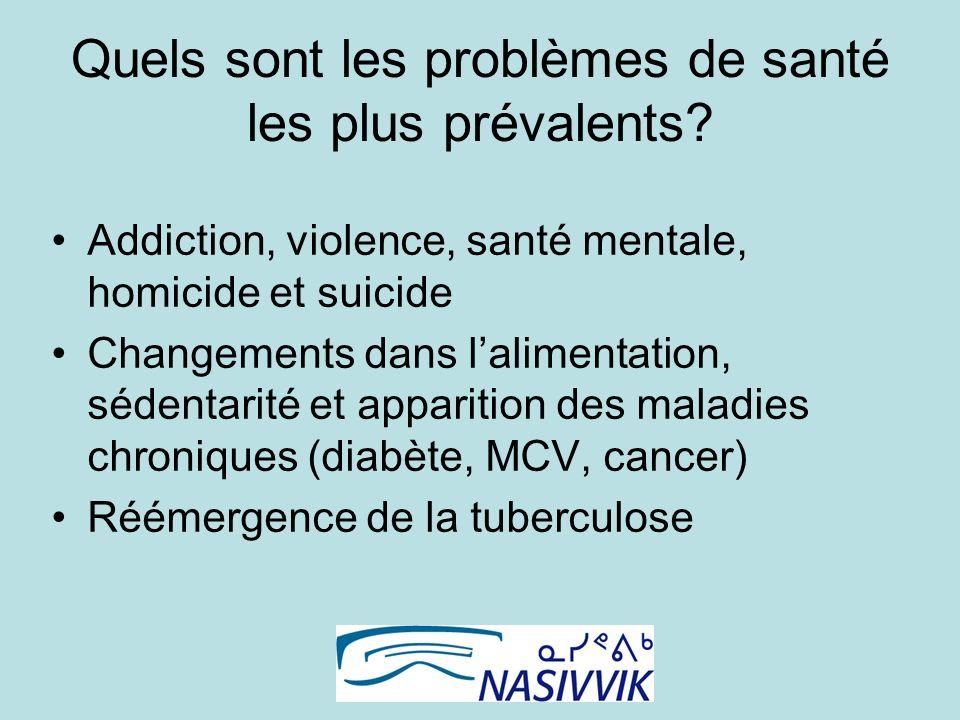 Quels sont les problèmes de santé les plus prévalents.