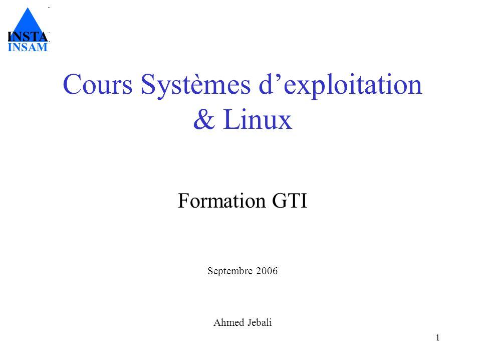 Plan du cours 1.Linux: Introduction générale 2.Initiation au shell 3.Le système de fichiers 4.Les redirections & pipes 5.La gestion des utilisateurs 6.Les processus 7.Les filtres 8.Léditeur vi 9.Les scripts 10.Fonctions avancées