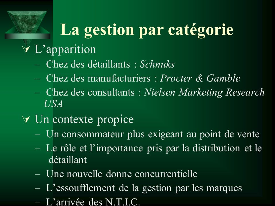 La gestion par catégorie Over 80% of retailers we talk to say that they are at various stages of implementation of CM.