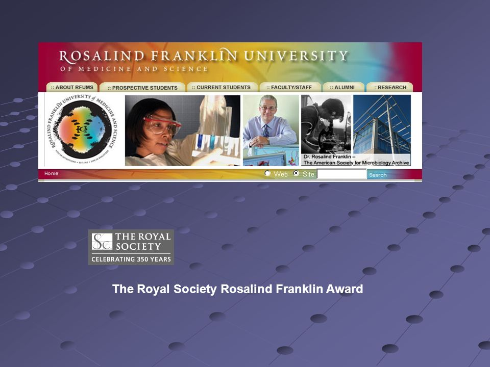 The Royal Society Rosalind Franklin Award