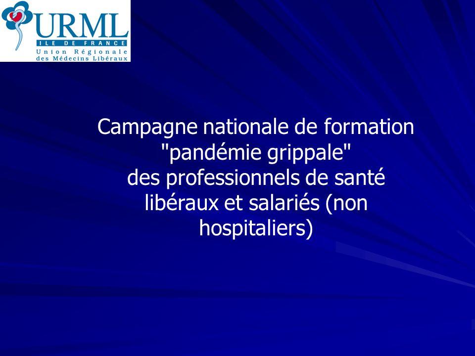 URML Ile-de-France 112 1- Plan Pandémie Principes Importance de lorganisation des soins ambulatoires Tous les professionnels de santé sont concernés Coordination indispensable Préparation dès à présent Retour Sommaire Octobre 2006