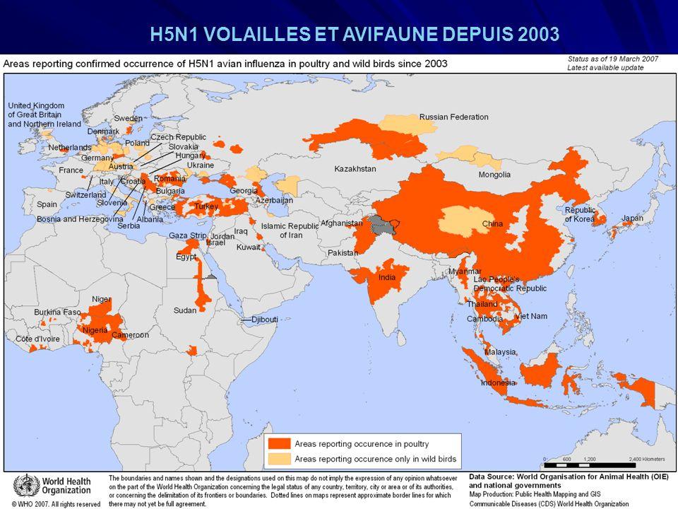 URML Ile-de-France 9 H5N1 VOLAILLES ET AVIFAUNE DEPUIS 2003