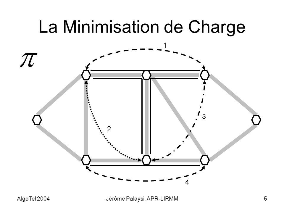 AlgoTel 2004Jérôme Palaysi, APR-LIRMM5 La Minimisation de Charge 1 2 3 4