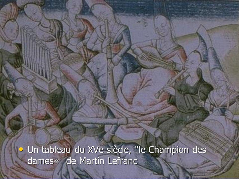 Un tableau du XVe siècle, le Champion des dames« de Martin Lefranc Un tableau du XVe siècle, le Champion des dames« de Martin Lefranc