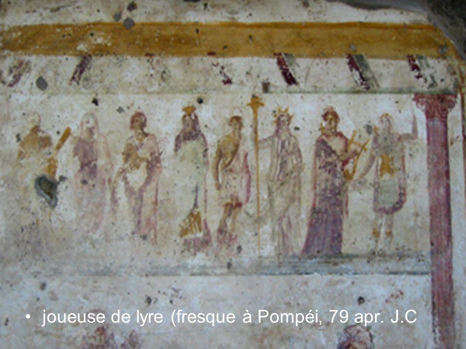 joueuse de lyre (fresque à Pompéi, 79 apr. J.C