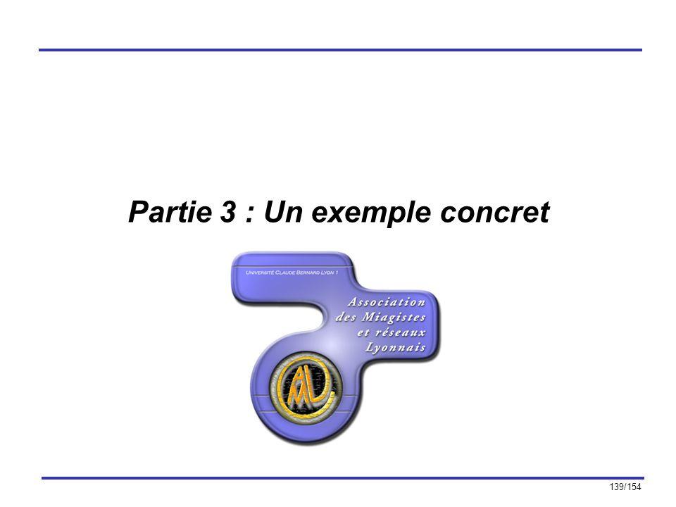 139/154 Partie 3 : Un exemple concret