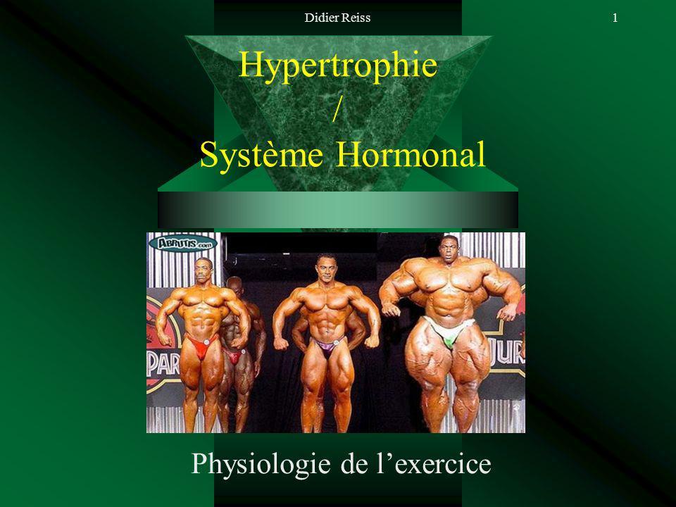 Didier Reiss1 Hypertrophie / Système Hormonal Physiologie de lexercice
