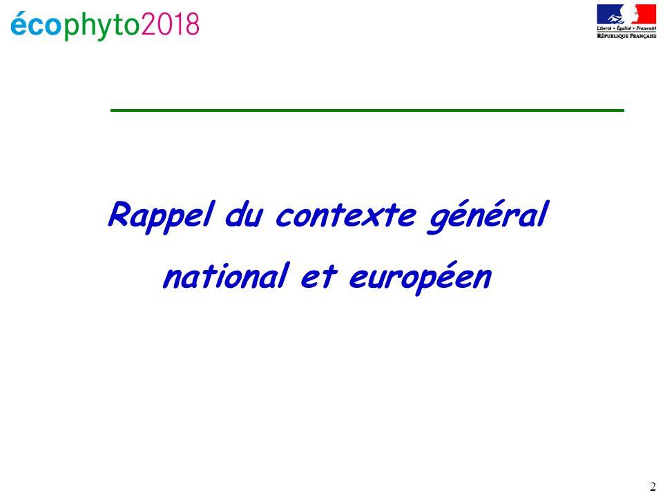 2 Rappel du contexte général national et européen