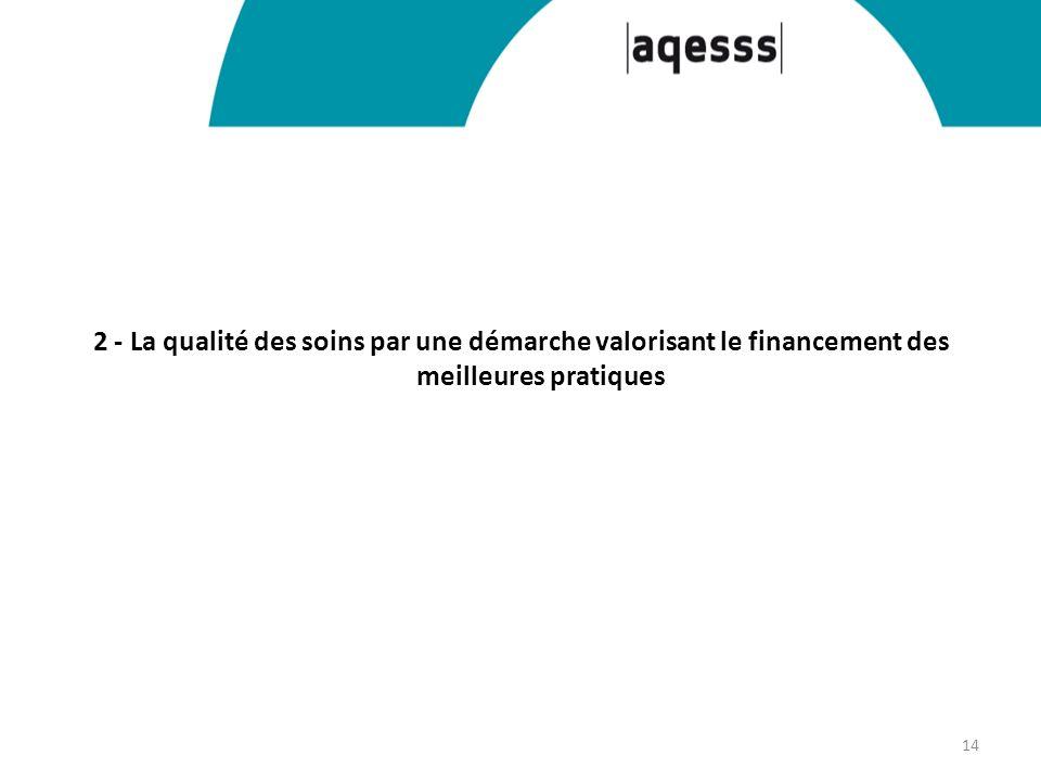 2 - La qualité des soins par une démarche valorisant le financement des meilleures pratiques 14