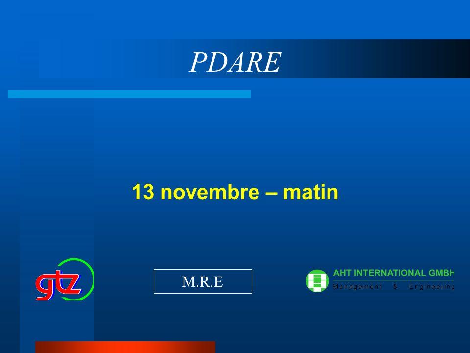 PDARE 13 novembre – matin M.R.E