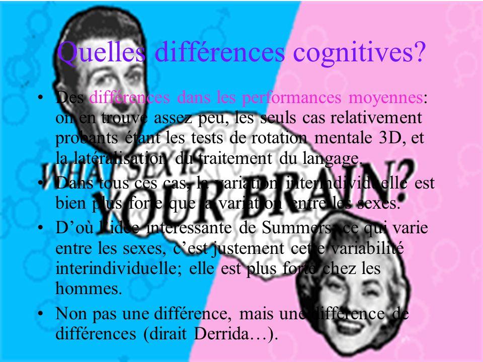 Quelles différences cognitives.