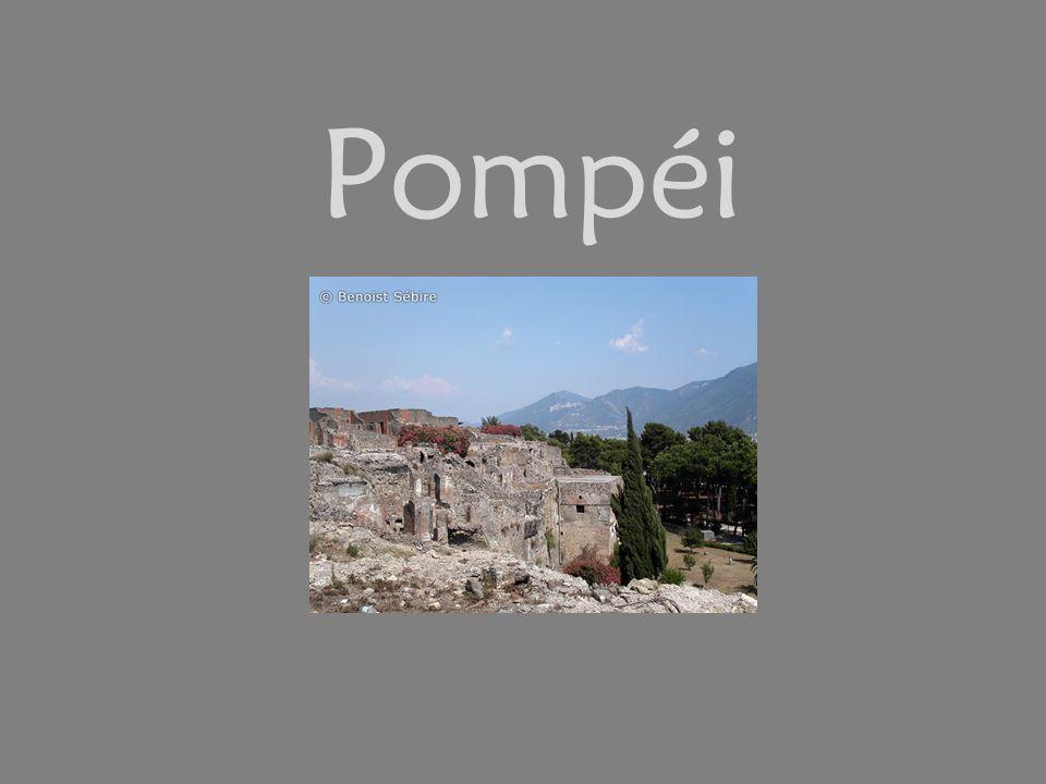 Pompéi est une ville italienne, victime de sa proximité au Vésuve, un volcan.
