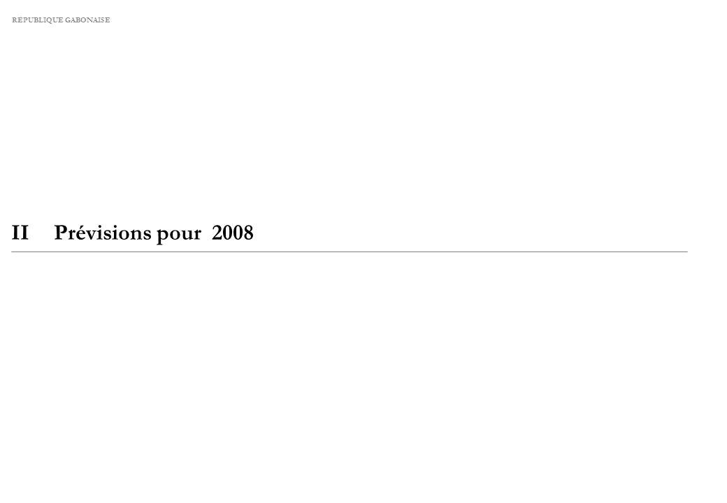 RÉPUBLIQUE GABONAISE IIPrévisions pour 2008
