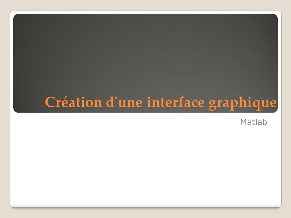Création d'une interface graphique Matlab