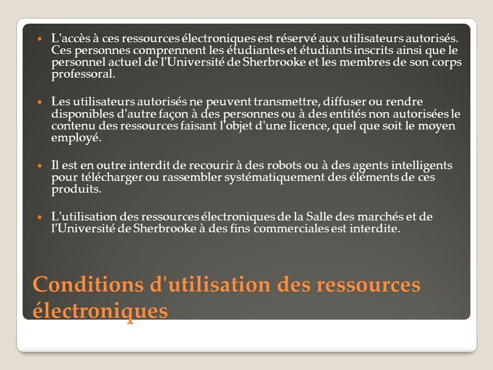 L accès à ces ressources électroniques est réservé aux utilisateurs autorisés.