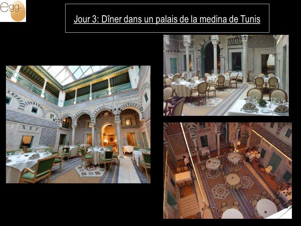 Jour 3: Dîner dans un palais de la medina de Tunis