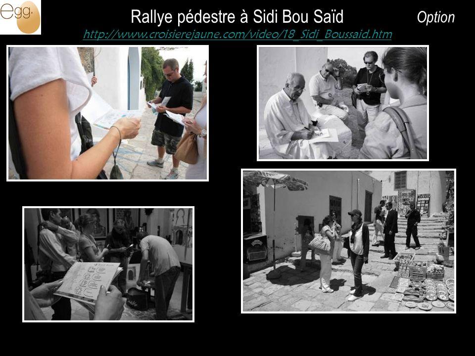 Rallye pédestre à Sidi Bou Saïd http://www.croisierejaune.com/video/18_Sidi_Boussaid.htm Option
